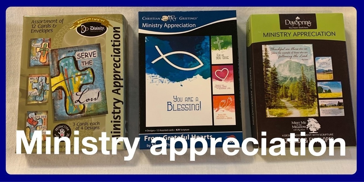 Christian Ministry Appreciation Cards in Sheldon, Iowa